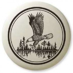 Bald Eagle Soaring Pathfinder Totem Porcelain Necklace