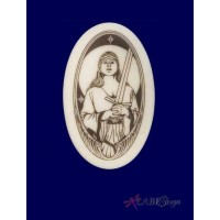 Lady of the Lake Arthurian Legends Porcelain Necklace