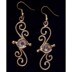 Bronze Swirl Crystal Earrings LABEShops Home Decor, Fashion and Jewelry