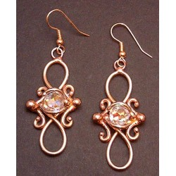 Bronze Figure 8 Crystal Earrings LABEShops Home Decor, Fashion and Jewelry