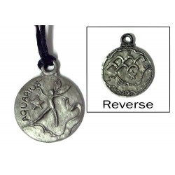 Aquarius Zodiac Pewter Necklace LABEShops Home Decor, Fashion and Jewelry