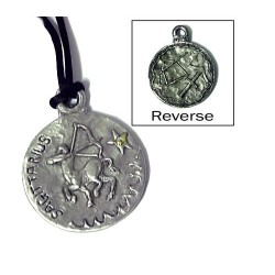 Sagittarius Zodiac Pewter Necklace LABEShops Home Decor, Fashion and Jewelry
