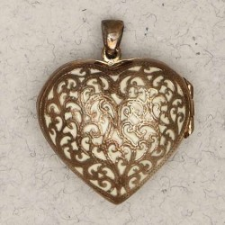 Heart 2 Sided Bronze Locket Necklace LABEShops Home Decor, Fashion and Jewelry