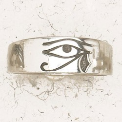 Eye of Horus Pewter Band Ring LABEShops Home Decor, Fashion and Jewelry
