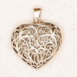 Filigree 2 Sided Heart Bronze Necklace LABEShops Home Decor, Fashion and Jewelry