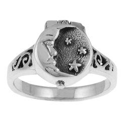 Moon and Stars Poison Ring LABEShops Home Decor, Fashion and Jewelry
