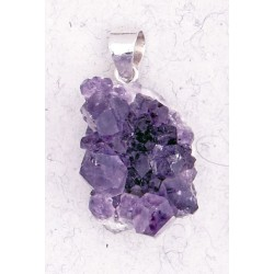 Amethyst Natural Druzy Pendant LABEShops Home Decor, Fashion and Jewelry