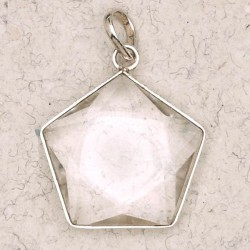 Clear Quartz 5 Point Prisma Star Pendant LABEShops Home Decor, Fashion and Jewelry