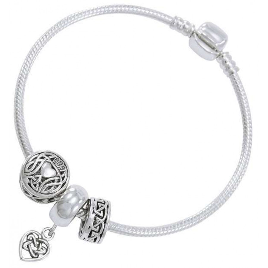 Celtic Heart Sterling Silver Bead Bracelet At Labes Home Decor Fashion And Jewelry