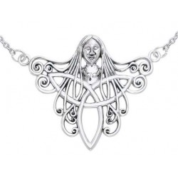 Danu Goddess Sterling Silver Necklace LABEShops Home Decor, Fashion and Jewelry