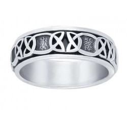 Celtic Knot Band Sterling Silver Fidget Spinner Ring LABEShops Home Decor, Fashion and Jewelry