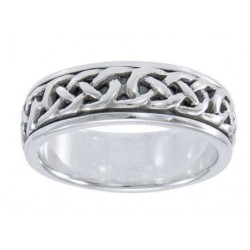 Celtic Knotwork Sterling Silver Fidget Spinner Ring LABEShops Home Decor, Fashion and Jewelry