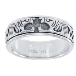 Celtic Animal Sterling Silver Fidget Spinner Ring LABEShops Home Decor, Fashion and Jewelry