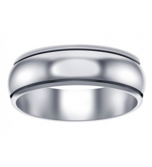 Plain Wide Band Sterling Silver Fidget Spinner Ring