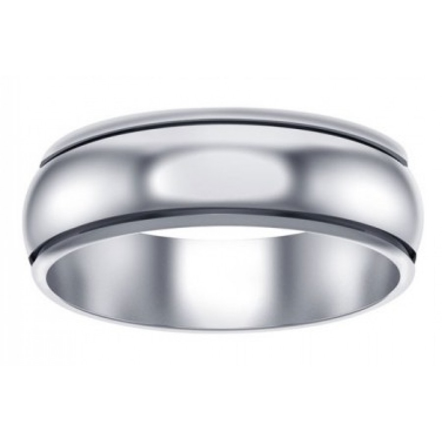 Plain Wide Band Sterling Silver Fidget Spinner Ring At LABEShops Home Decor Fashion And