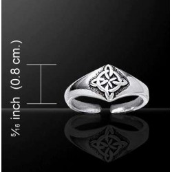 Celtic Four Point Quaternary Knot Silver Toe Ring LABEShops Home Decor, Fashion and Jewelry