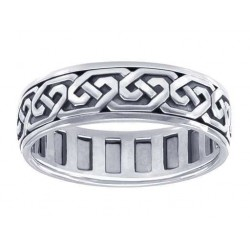 Celtic Knot Solid Sterling Silver Fidget  Spinner Ring LABEShops Home Decor, Fashion and Jewelry