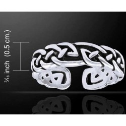 Celtic Knot Silver Toe Ring LABEShops Home Decor, Fashion and Jewelry