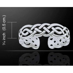 Celtic Knotwork Silver Toe Ring LABEShops Home Decor, Fashion and Jewelry