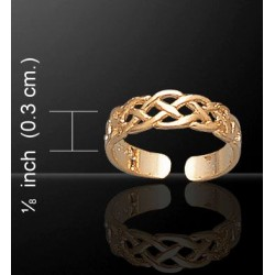 Celtic Knotwork Gold Vermeil Toe Ring LABEShops Home Decor, Fashion and Jewelry