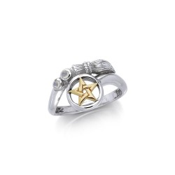 Broomstick and Star Ring