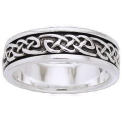 Celtic Knot Sterling Silver Fidget  Spinner Ring LABEShops Home Decor, Fashion and Jewelry