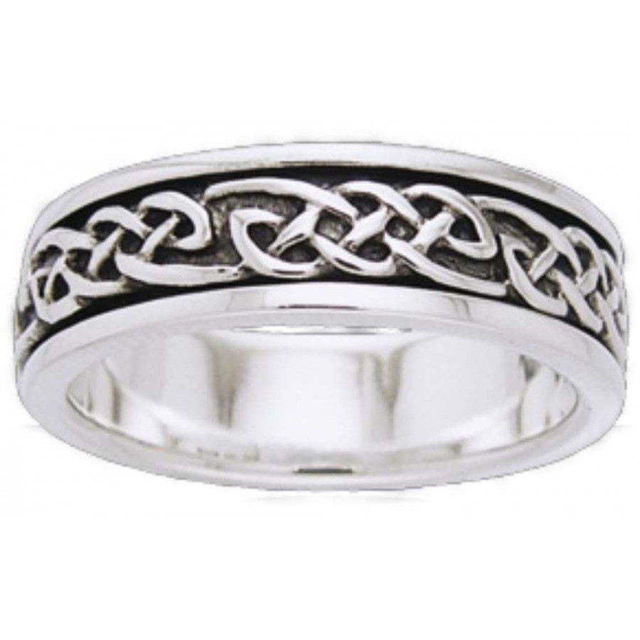 Celtic Knot Sterling Silver Fidget Spinner Ring At LABEShops Home Decor Fashion And Jewelry