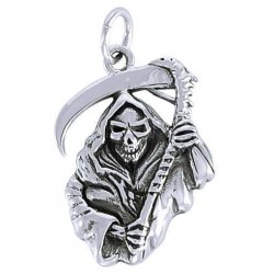 Grim Reaper Sterling Silver Charm LABEShops Home Decor, Fashion and Jewelry