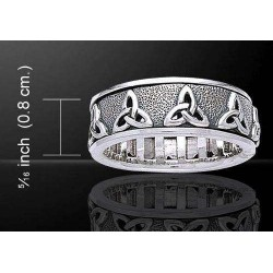 Triquetra Celtic Knot Sterling Silver Fidget Spinner Ring