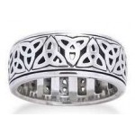 Triquetra Sterling Silver Fidget Spinner Ring