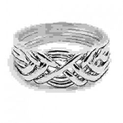 6 Band Heavy Turkish Puzzle Ring LABEShops Home Decor, Fashion and Jewelry