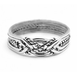 6 Band Turkish Twist Puzzle Ring LABEShops Home Decor, Fashion and Jewelry