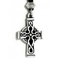 Celtic Cross Pewter Necklace