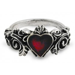 Betrothal Gothic Heart Pewter Ring LABEShops Home Decor, Fashion and Jewelry