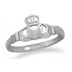 Claddagh Small Sterling Silver Ring LABEShops Home Decor, Fashion and Jewelry