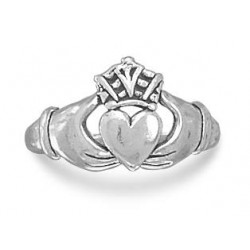 Claddagh Oxidized Sterling Silver Ring LABEShops Home Decor, Fashion and Jewelry