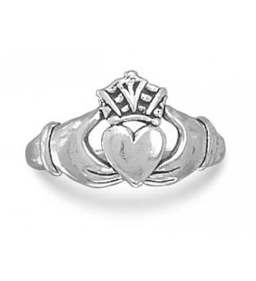 Claddagh Oxidized Sterling Silver Ring at LABEShops, Home Decor, Fashion and Jewelry