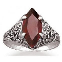 Garnet Antiqued Sterling Silver Ring LABEShops Home Decor, Fashion and Jewelry