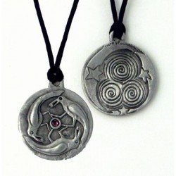 Triple Spirals Raven Pewter Necklace LABEShops Home Decor, Fashion and Jewelry