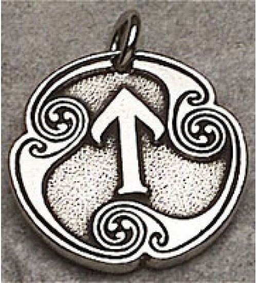 Tir - Rune of Victory Pewter Talisman at LABEShops, Home Decor, Fashion and Jewelry