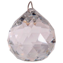 Crystal Prism Faceted Sphere LABEShops Home Decor, Fashion and Jewelry