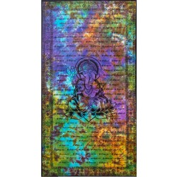Ganesh Tie Dye Full Size Cotton Tapestry LABEShops Home Decor, Fashion and Jewelry