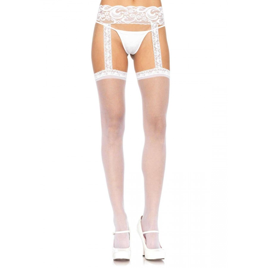 9a395a9fd Lace Garter Belt Suspender Sheer Stockings - Pack of 3 at LABEShops