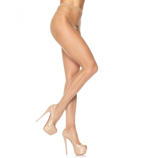 Crotchless Sheer Panythose - Pack of 3
