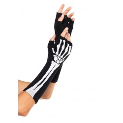 Skeleton Knit Fingerless Gloves LABEShops Home Decor, Fashion and Jewelry