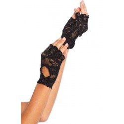 Black Lace Keyhole Back Fingerless Gloves LABEShops Home Decor, Fashion and Jewelry