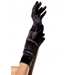 Black Wrist Length Satin Gloves LABEShops Home Decor, Fashion and Jewelry