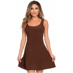 Basic Brown Womens Skater Dress LABEShops Home Decor, Fashion and Jewelry