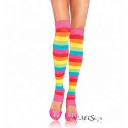 Rainbow Striped Leg Warmers LABEShops Home Decor, Fashion and Jewelry