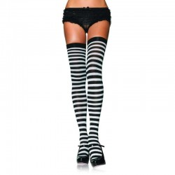 Black White Striped Plus Size Stockings 3 Pack LABEShops Home Decor, Fashion and Jewelry